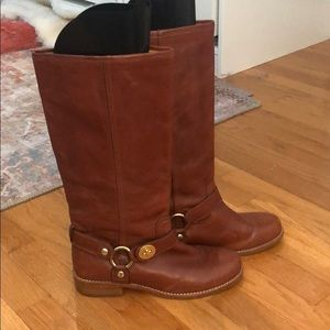 """Tall coach """"Wendy"""" riding boots. Cognac leather."""